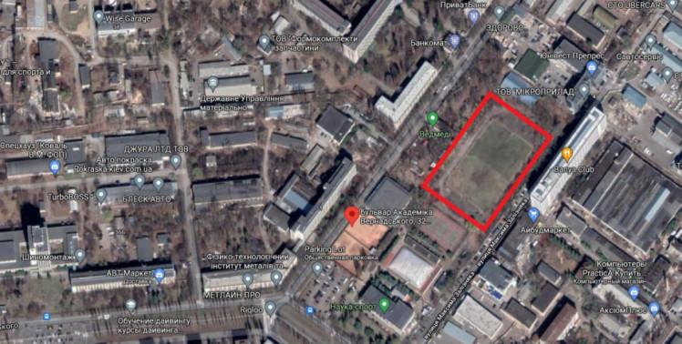 Забудова стадіону в Святошинському районі