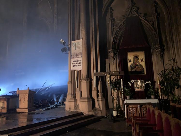 Наслідки пожежі в костелі